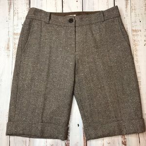 MICHAEL Michael Kors Wool Blend Knee Shorts